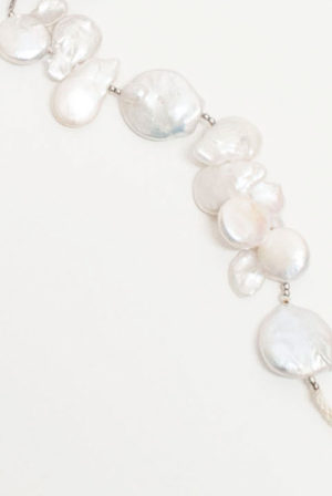 Abanico Novia- Perla cultivada en agua dulce, plata de 1ª ley y seda-detalle2