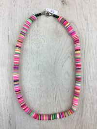 Collar Silicona Multicolor Rosa