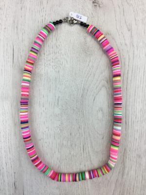 Collar Silicona Multicolor Rosa