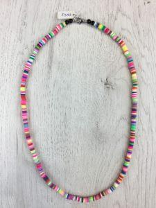 Collar Silicona Mini Multicolor Rosa