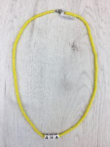 Collar Nombre Cristal Amarillo